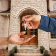 Stock Photo: Handing Over the Keys and House