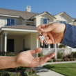 Stock Photo: Handing Over Keys and House