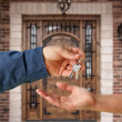 Stock Photo: Handing Over Keys and Front Door