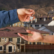 Handing Over the Keys and Houses — Stock Photo