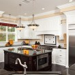 Foto Stock: Beautiful Custom Kitchen Interior