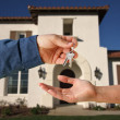 Handing Over the Keys and House — Stock Photo #2359154