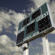 HIgh School Scoreboard Over Sky — Stock Photo