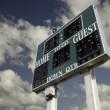 HIgh School Scoreboard Over Sky — Stock Photo #2359183