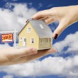 Stock Photo: Reaching For Home with Real Estate Sign
