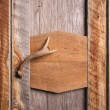 Rustic Cabinet with Antler Handle - Stock Photo