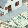 Model House Resting on Money — Stock Photo