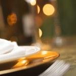 sfondo di impostazione elegante cena — Foto Stock