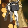 Royalty-Free Stock Photo: Do Not Drink and Drive - Keys, Champagne
