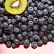 Macro Kiwi and Blueberries Background — Stock Photo #2359988