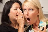 Two Friends Whispering Secrets — Stock Photo