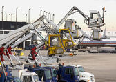 Deicing Equipment Ready at Airport — Stock Photo