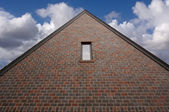 Abstract of New Brick Construction — Stock Photo