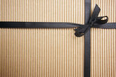 Corrugated Surface Gift Box and Ribbon — Foto Stock