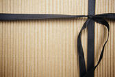 Corrugated Surface Gift Box and Ribbon — Stock Photo