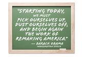 President Obama Inauguration Quote Series Chalkb — Stock Photo