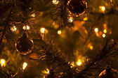 Warm Christmas Tree Decoration Abstract Background — Stockfoto