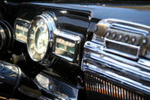 Close-up of vintage car interior. — Stock Photo