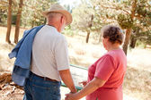 Loving Senior Couple Exploring Nature — Stock Photo