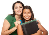Proud Hispanic Mother and Daughter — Stock Photo