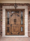 Newly Constructed Doorway — Stock Photo