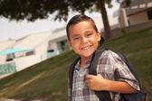 Young Hispanic Boy on His Way to School — Stock Photo