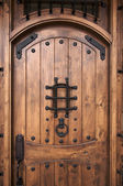 Intricate Wooden Doorway — Stock Photo