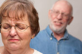 Angry Senior Couple in a Terrible Fight — Stock Photo