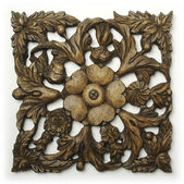 Ornate Wood Carving Ornament — Stock Photo
