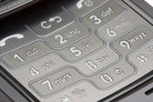 Grey Detailed Cell Phone Number Pad Macro — Stock Photo