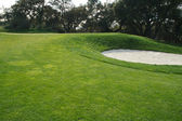 Abstract Golf Course Bunkers and Grass — Stock Photo