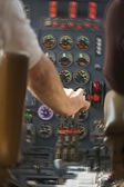 Turbulent Jet Cockpit - Motion Added — Stock Photo