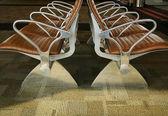 机场座椅抽象 — 图库照片