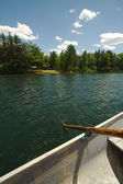 Lake Scene in a Rowboat — Stock Photo