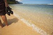 Crashing Wave on the Na Pali Shoreline — Stock Photo