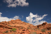 Red Rocks of Utah with Blue Sky and Clouds — Stock Photo