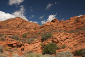 Red Rocks of Utah with Dramatic Blue Sky — Stock Photo