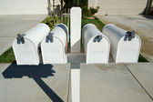 Rural Mailboxes on Post — Stock Photo