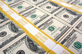 Stacks of One Hundred Dollar Bills — Stockfoto