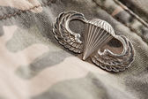 Paratrooper War Medal on Camouflage — Стоковое фото
