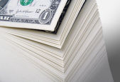 Large Stack of One Dollar Bills — Stock Photo