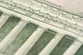 Macro of the back of the U.S. Five Dollar Bill — Stock Photo