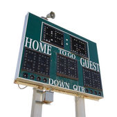 HIgh School Score Board — Stock Photo