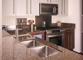 Modern Apartment Kitchen Interior — Stock Photo