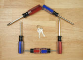 House Shaped by Screwdrivers and Keys — Stock Photo
