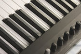 Digitale piano toetsen en besturingselementen — Stockfoto