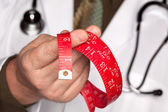 Doctor, Stethoscope, Measuring Tape — Stock Photo