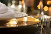 Astratto di impostazione elegante cena — Foto Stock