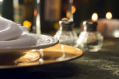 Elegant Dinner Setting Abstract — Stock Photo