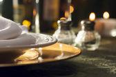 Elegant Dinner Setting Abstract — Stock Photo